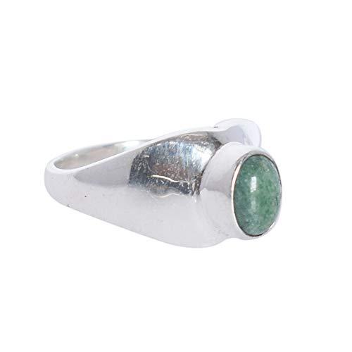 Ravishing Impressions Wonderful Green Aventurine Gemstone 925 Solid Sterling Silver Handmade Ring Sz 6, Gift for Girls…