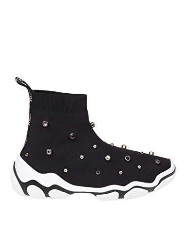 nero alte Donna Sneakers Rq2s0b92hfd0no Red in Valentino tessuto aBwxqF