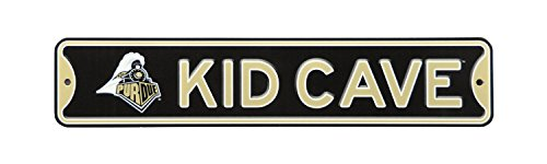 Authentic Street Signs NCAA College Officially Licensed STEEL Kid Cave Sign-Decor for sports fan bed room! ... (Purdue Boilermakers) (Best Sports Fan Signs)
