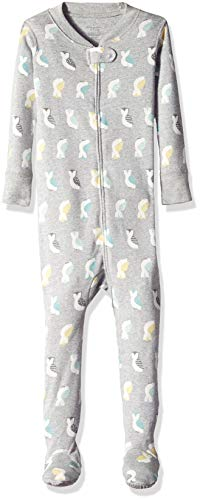 Moon and Back Organic One-Piece Footed Pajamas