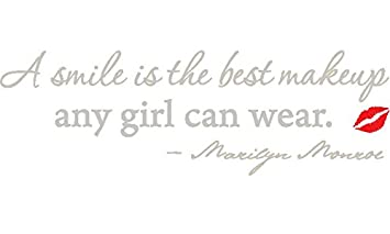 Amazoncom Silver 53 X 17 A Smile Is The Best Makeup Marilyn