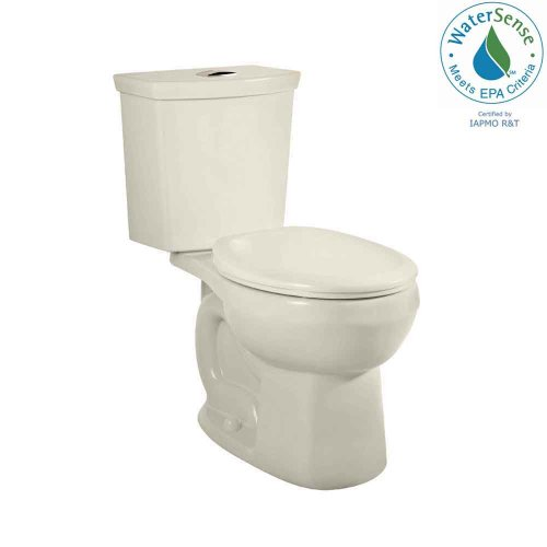 89.216.222 H2Option Siphonic Dual Flush Round Front Two-Piece Toilet, Linen (Round Front Water Closet)