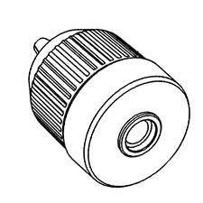 Porter Cable 90538667 Keyless Chuck with 2 Sleeves and 1/2-20 inch Thread, 3/8 inch