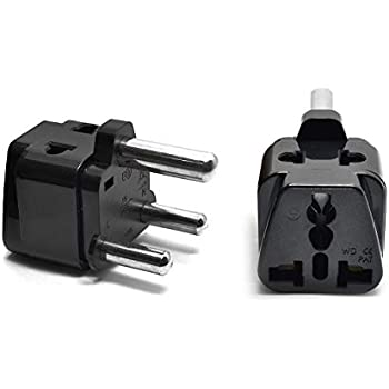 Type M 4 Pack OREI 2 in 1 Universal//USA to South Africa Travel Adapter Plug