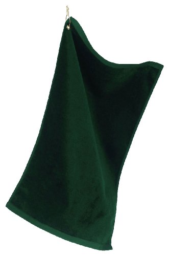 Towels Plus by Anvil Deluxe Hemmed Hand Towel with Corner Grommet and Hook T68G - Hunter Green_One