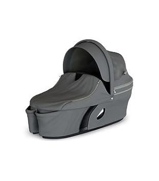 Brushed Lilac Stokke Xplory V6 Black Carry Cot