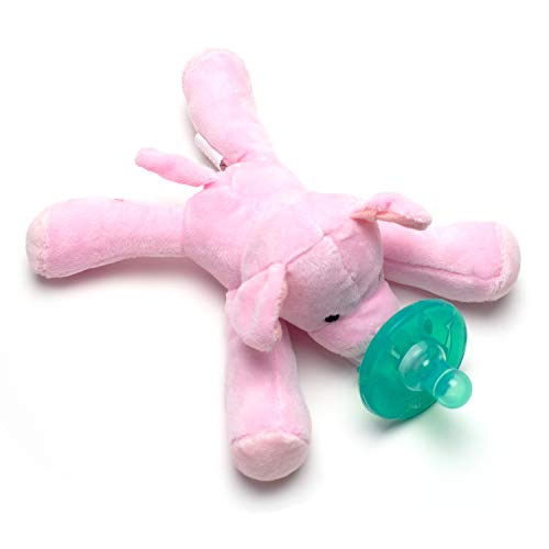 & Detachable Silicone Pacifier Baby Gift Set Paci Clip Binky Holder Gift for Boys, Girls (Pig) ()