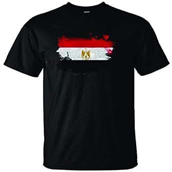 black t shirt -flag egypt