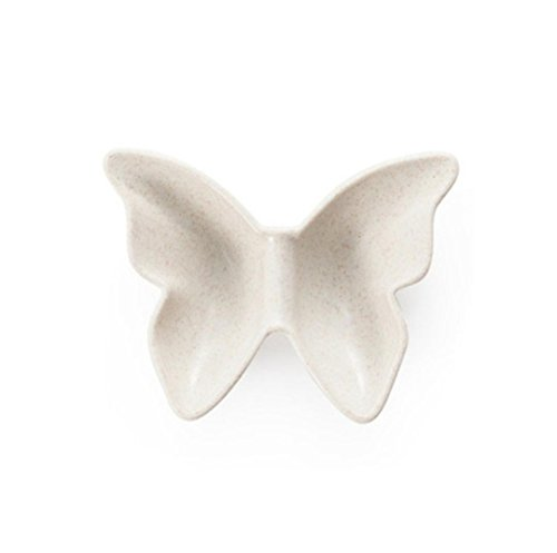 Kitchen Tool ZTY66, Natural Degradation Of Wheat Straw Butterfly Shaped Plate Snacks Dish, 12 x 9.5CM