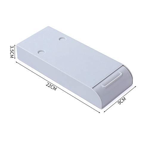 N/A Home - Caja de almacenamiento para mesa oculta debajo de la pasta de escritorio, organizador de escritorio y cajon divisor