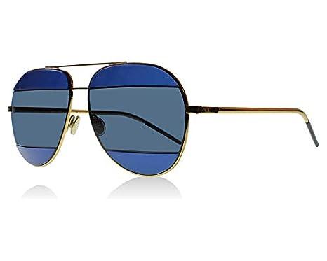 5ce3b4a841 Dior 000KU Rose Gold   Blue DiorSplit2 Aviator Sunglasses at Amazon Men s  Clothing store