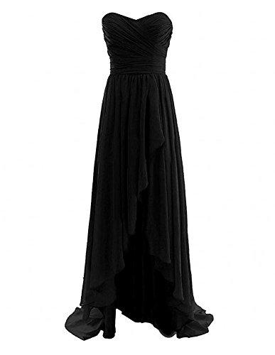 Chiffon Black Prom Blush Dress Sweetheart Short Dress Women's Bridesmaid Botong tSqwpSP