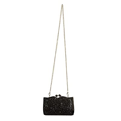 Dancing Days by Banned Clutch Black Vintage 50s Sparkly Bag - more-bags