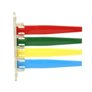 Unimed-midwest I4pf169434 Room Status Flags 4-flag Primary Red, Green, Yellow, Blue (Each)
