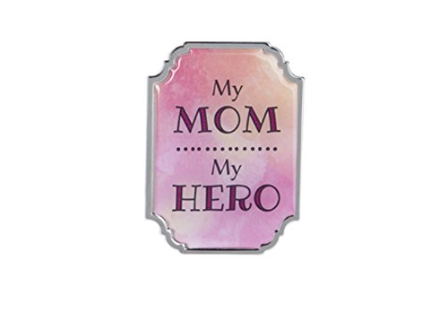 Ganz Home Decor Love & Blessings 2.75 inch Mini Motivational Message Magnet/Plaque ~ Lovely Mom Parent Series (My Mom, My Hero)