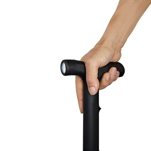 Self-Defense Stun Gun Walking Cane with Flashlight by Southern Garden Tools