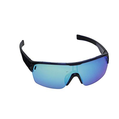 - adidas Zonyk Aero S Shield Sunglasses, Blue Shiny, 68 mm