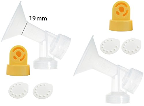Nenesupply Pump Parts for Medela Breastpumps X Small 19mm Breastshield Valve Membrane Use on Medela Pump In Style Symphony Medela Swing Not Original Medela Pump Parts Not Original Medela Breastshield