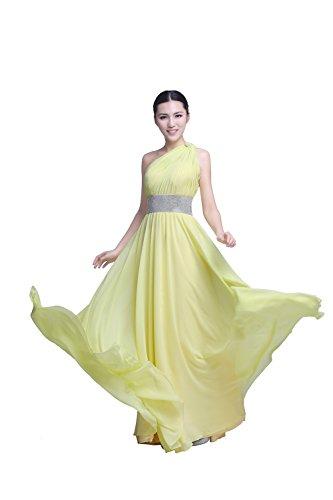 YiYaDawn - Vestido - trapecio - para mujer amarillo