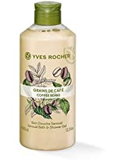Yves Rocher 07360 Sensual Bath and Shower Gel with Coffee Beans - 400 ml