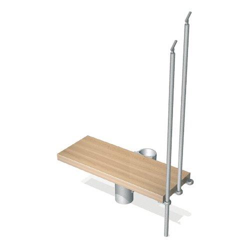 Kompact 35 in. Grey Modular Staircase Add Riser (Modular Riser)