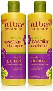 (Alba Botanica Shampoo 12 oz and Conditioner 12 oz (Plumeria) )