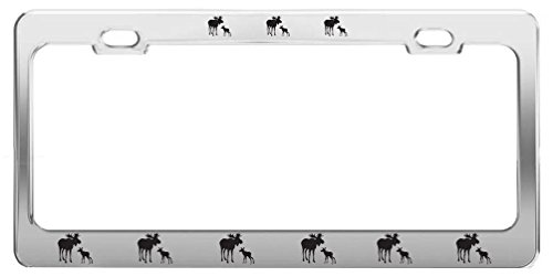 Moose ANIMAL Metal License Plate Frame Tag Holder Auto Accessories