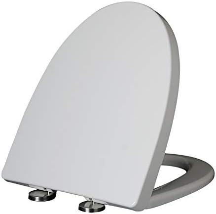 白い普遍的な厚いV字型便座、尿素ホルムアルデヒド樹脂材料、柔らかい閉鎖、クイックリリース、掃除が簡単、家族のホテルのレストランのトイレで使用できます
