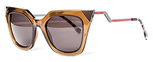 Fendi Women's Statement Sunglasses, Trans Olive/Brown Grey, One - Fendi Brown