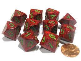 全国宅配無料 Chessex Dice Sets: B001S6TPNI Speckled Strawberry Speckled - Ten Sided Die Sets: d10 Set (10) B001S6TPNI, ヨネザワシ:f8355ecb --- cliente.opweb0005.servidorwebfacil.com