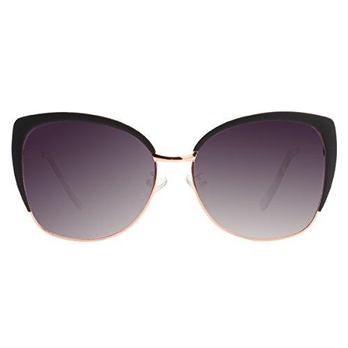 Beste Vivienfang Semi Rimless cat eye sunglasses Women's