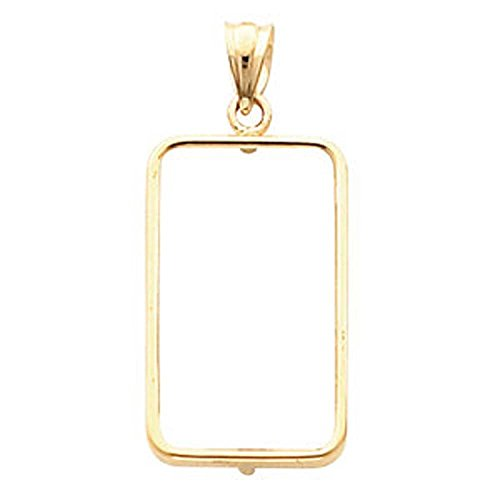 Tab Back Coin Frame Pendant For 2 5 Gram Credit Suisse In 14K Yellow Gold