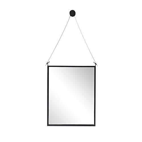 Espejo de baño europeo, espejo minimalista moderno montado en la pared del marco del hierro labrado - espejo de pared...