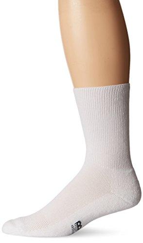 New Balance Unisex 1 Pack Wellness Crew Socks White X-Large