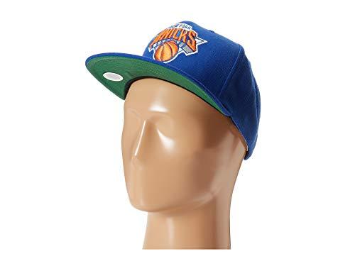 - Mitchell & Ness New York Knicks NBA Team Logo Solid Wool Adjustable Snapback Hat (Blue)
