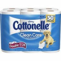 Kleenex Cottonelle Toilet Paper Clean Care with Soft Ripples