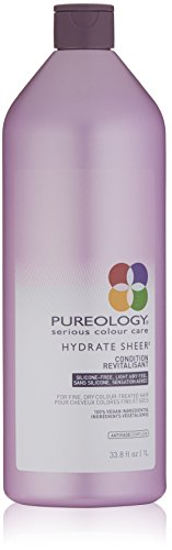 Pureology Hydrate Sheer Moisturizing Conditioner | For Fine, Dry Color Treated Hair | Lightweight | Sulfate-Free | Silicone-Free | Vegan | 33.8 oz.