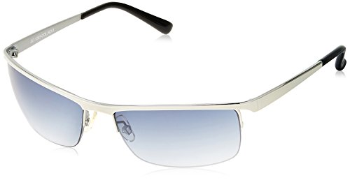 Scott Rectangular Sunglasses (Silver White) (SC-1263-C3|FREESIZE)