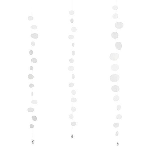 Transparentpapierkette Dekokette Dekohänger Papierkette 3er Set salbei Räder