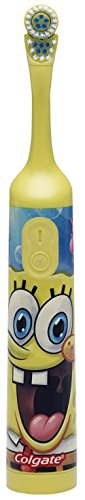 Colgate Nickelodeon SpongeBob SquarePants Extra Soft Powered Toothbrush, 1 CT (Pack of 3) by Colgate