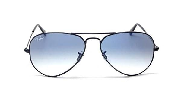 b7960a931 Ray Ban Aviator RB3025 002/3F, Black Frame, Light Blue Gradient Lens, Size:  58: Amazon.ae: delma.glasses