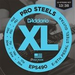D'Addario Guitar Strings   3 Sets   Pedal Steel   Pro Steels   EPS490 E9th
