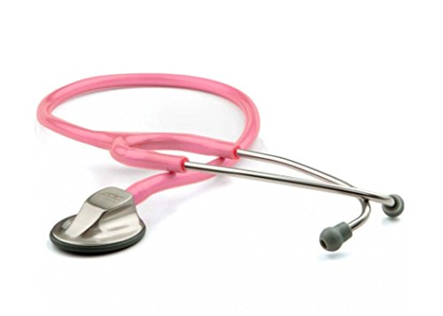ADC 615PBCA Adscope 615 Platinum Sculpted Clinician Stethoscope with Tunable AFD Technology,, Breast Cancer Awareness Metallic Pink
