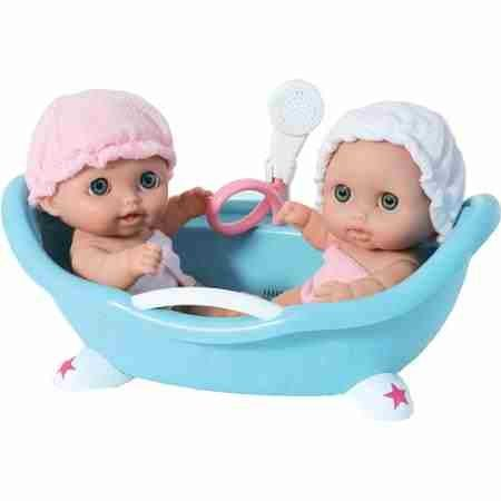 Lil' Cutesies Twins with Bathtub - Toys & Games - Dolls & Dollhouses - Baby Doll Playsets - Set includes two 8.5