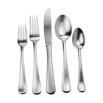 Amazon Com Splendide 917369 Lucia 45 Piece Flatware Set