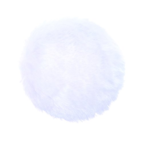 Anleolife 5Pcs White Large Fluffy Puffs For Body Powder Washable Face Powder 3 inch Blending Sponge Puff Round For Foundation Makeup Velour Puffs Beauty Blenders (White Face Makeup Powder)
