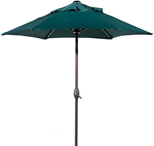 Abba Patio Outdoor Patio Umbrella with Push Button Tilt and Crank, 7-1 2-Feet, Green