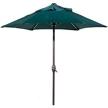 Amazon Com California Umbrella 7 5 Round Aluminum Pole Fiberglass