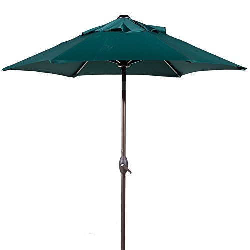 Abba Patio Outdoor 7-1/2 ft. Table Umbrella with Push Button Tilt and Crank Lift, Green