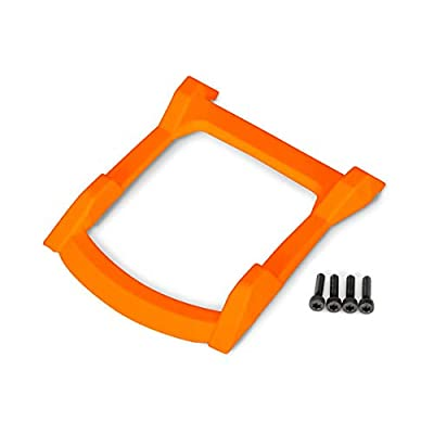 Traxxas 6728T - Skid Plate, roof (Body) (Orange)/ 3x12 CS (4): Toys & Games